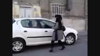 کتک زدن پسر توسط دختر