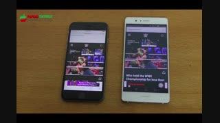 تست سرعت Huawei p9 Lite -iPhone 6S - پارسیس موبایل