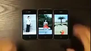 هنرنمایی جالب با گوشی های همراه