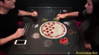 سفارش پیتزا به جناب آقای میز