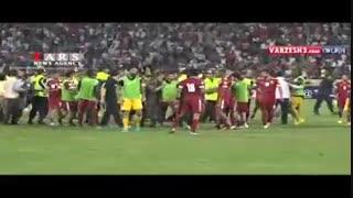 فیلم کامل درگیری بازیکنان ایران و قطر پس از گل ایران