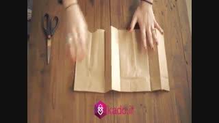 کادوپیچی خلاق با پاکت کاغذی
