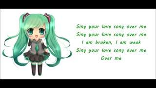 nightcore-love song (over me(