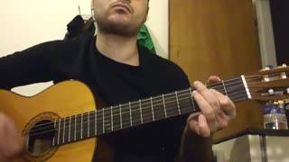 بهت قول میدم از محسن یگانه(ملودی و سولو) با گیتار