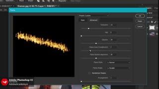 فیلتر Flame در فتوشاپ