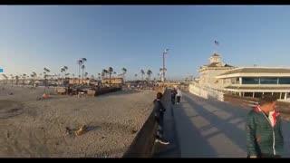 کلیپی از تصاویر ضبط شده با دوربین Insta 360 One X