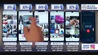 تست باتری OnePlus 7 Pro vs Samsung S10 Plus / iPhone XS Max / P30 Pro / Xiaomi Mi 9