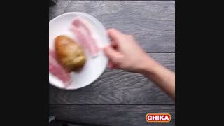 دستور آسان آشپزی: سیب زمینی با بیکن و پنیر چدار