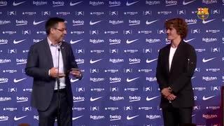 مراسم معارفه کامل گریزمان بازیکن جدید بارسلونا