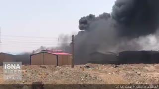 آتشسوزی در کارخانه پلاستیک منطقه 20 بهشت زهرا(س)