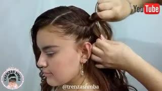 آموزش مدل مو دخترانه آبشاری پایین- مومیس مشاور و مرجع تخصصی مو