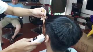 آموزش مدل مو مردانه طرح چتر- مومیس مشاور و مرجع تخصصی مو