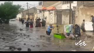 کوت عبدالله استان خوزستان در سیل 28 آذر 98