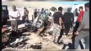 تصادف با تراکتور/اکبر آباد،شهرستان جهرم،فارس