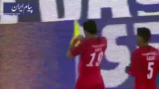 تک گل بازی پرسپولیس تهران 1 - نساجی مازندران صفر