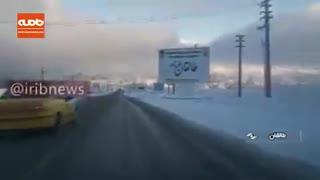 برف در اراک و طالقان و آسارا در استان البرز