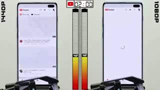 مقایسه تست باتری در رزولوشن 1440p با 1080p
