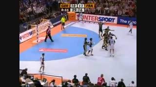 دیدار تیم های ملی هندبال آلمان و فرانسه درمسابقات قهرمانی جهان 2007