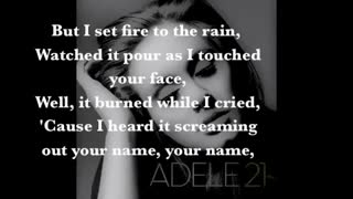 Set fire to the rain _ Adel